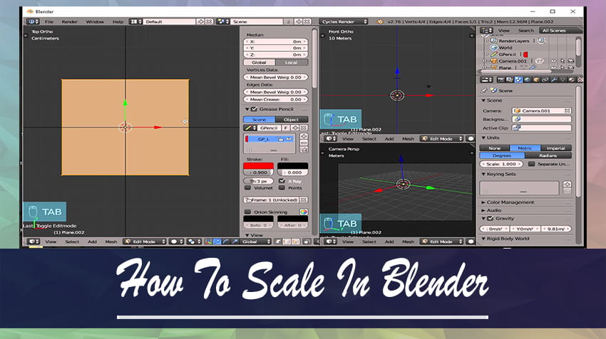 How To Scale In Blender