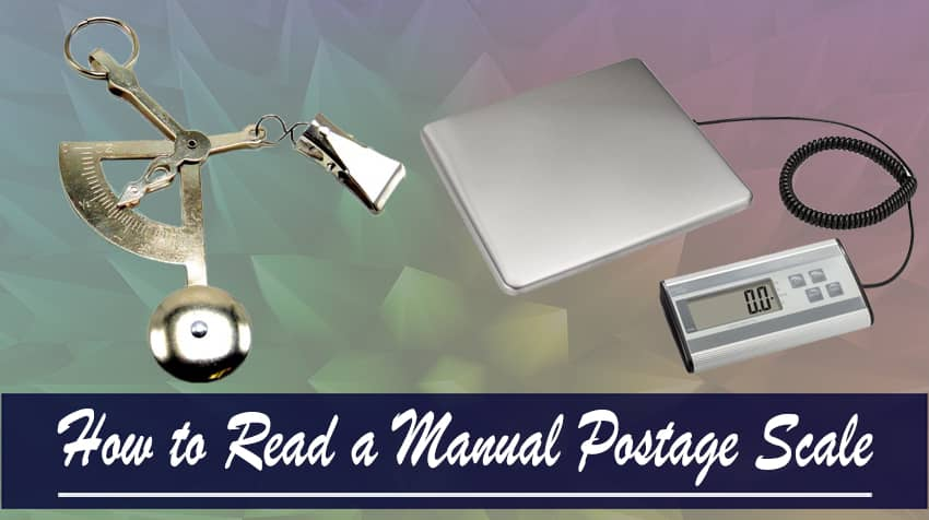 how to read postage scale