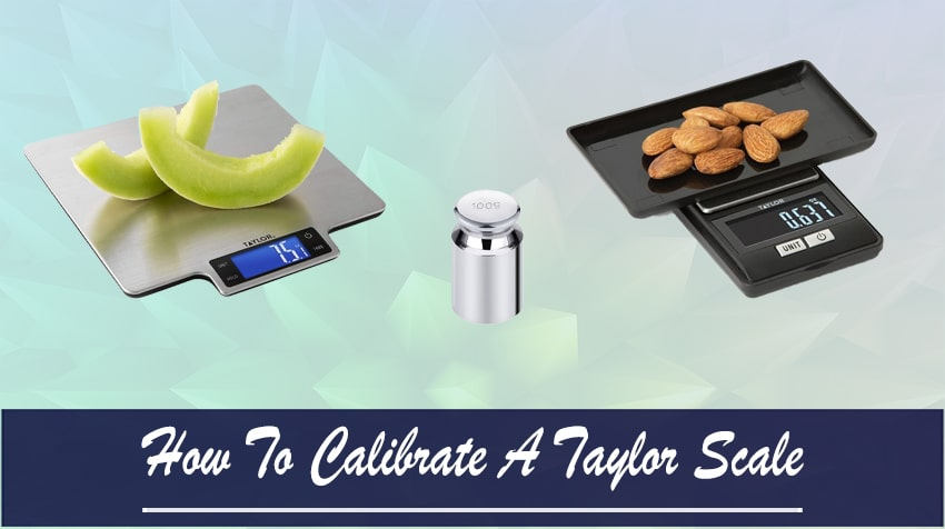 how to calibrate a taylor digital scale